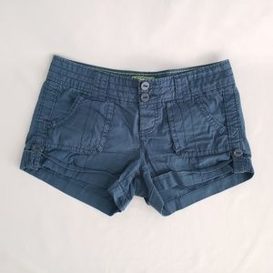 American Eagle Blue Distressed Shorts